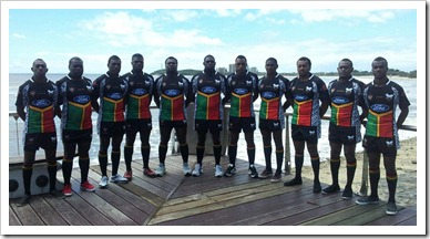 Team pic at Mooloolaba beach